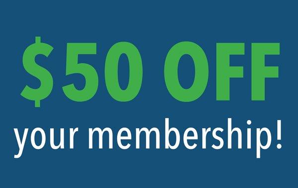 $50 off membership