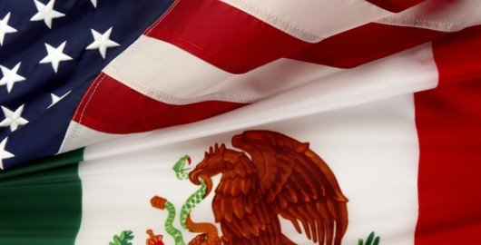 US - Mexican Flags