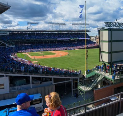 wrigley rooftop view