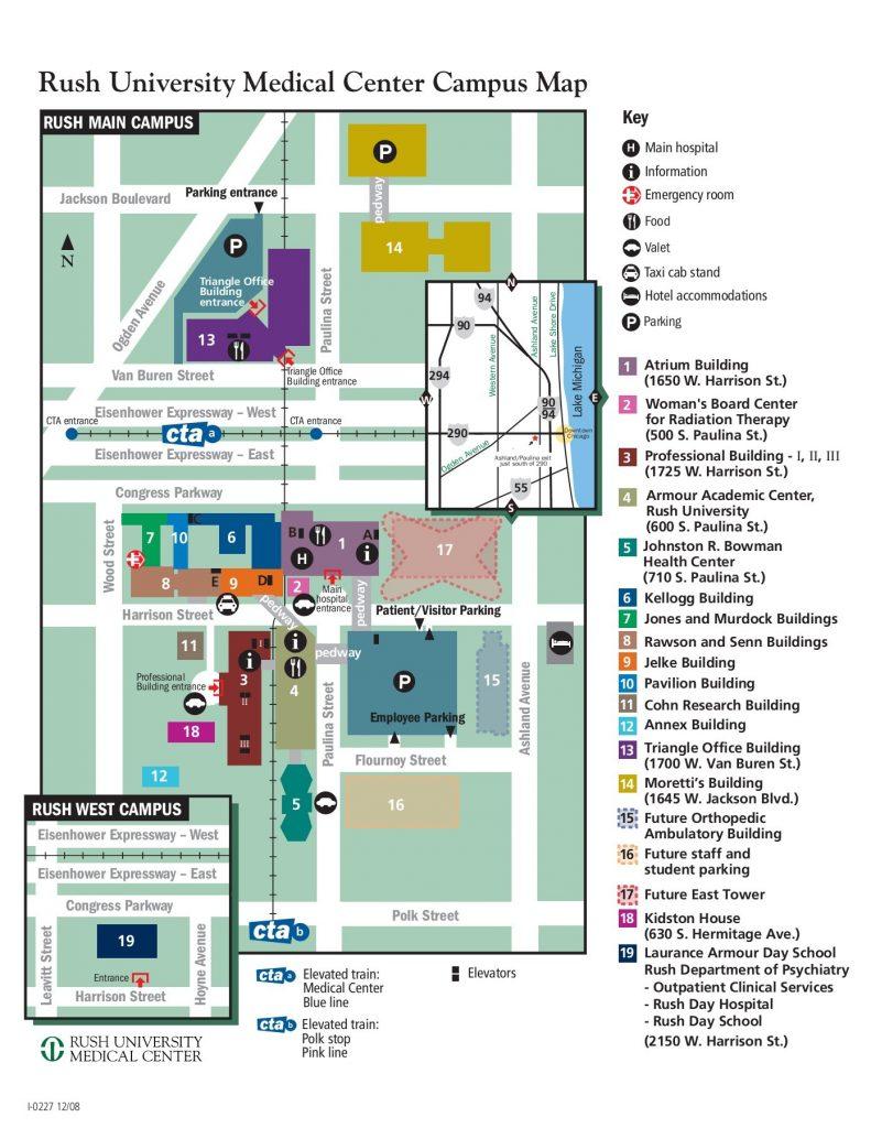 rush university campus map Rush University Medical Center Presentation Tour Chicago